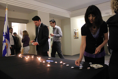 Yom Hazikaron ceremony at San Francisco based Jewish Community Federation