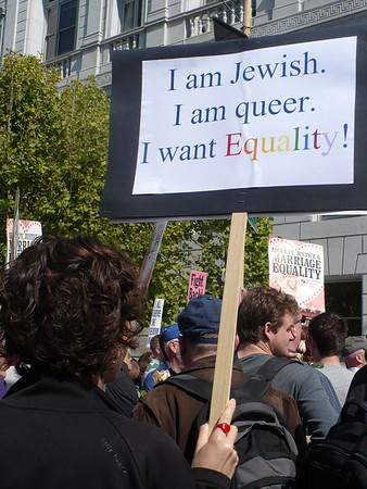 I am Queer. I am Jewish. I want Equality.