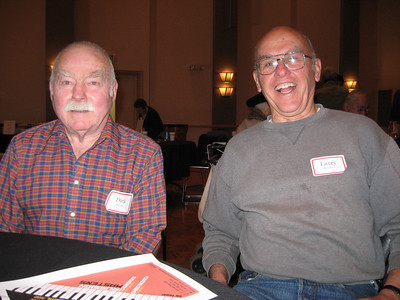 Spouses for over three decades, Larry and Dick, enjoy Thanksgiving lunch together.