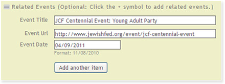 Related Events on Jewishfed.org Community Calendar