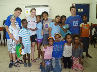 Metro West, NJ Diller Teens with Ethiopian Israelis in Rishon L'Tzion
