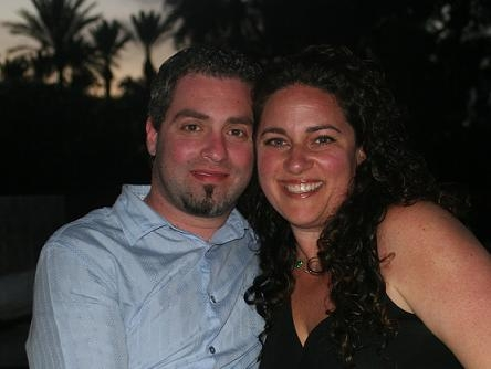 Hillarie Katz, winner of the Israel Vacation Drawing, with husband Eyal