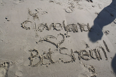 Cleveland Diller Teens name in sand